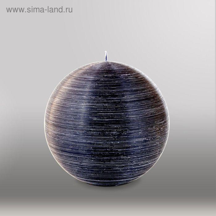 """Свеча шар """"Рельеф"""", d=150мм,  черный"""