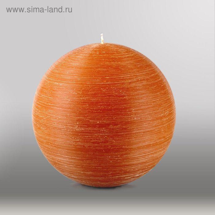 """Свеча шар """"Рельеф"""", d=200мм,  коричневый"""