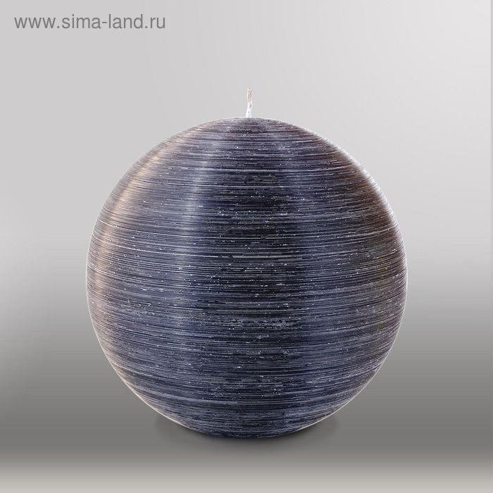 """Свеча шар """"Рельеф"""", d=200мм,  черный"""