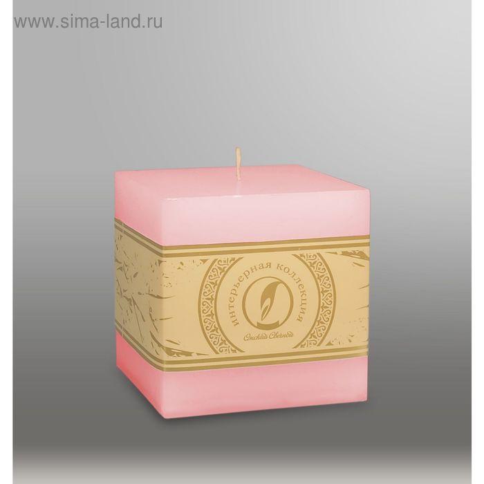 """Свеча куб """"Классика"""", 100мм,  розовый"""