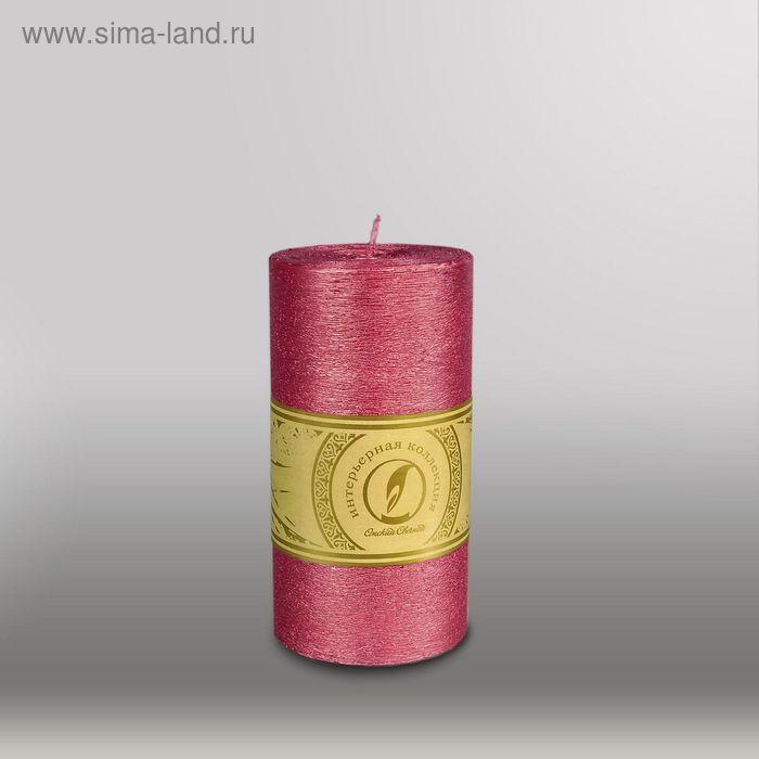 """Свеча цилиндр """"Металлик"""", 80x150мм,  рубин"""