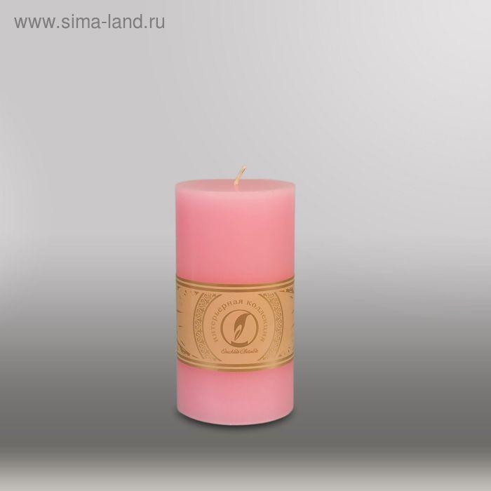 """Свеча цилиндр """"Классика"""", 80x150мм,  розовый"""