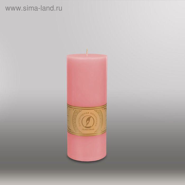 """Свеча цилиндр """"Классика"""", 80x200мм,  розовый"""