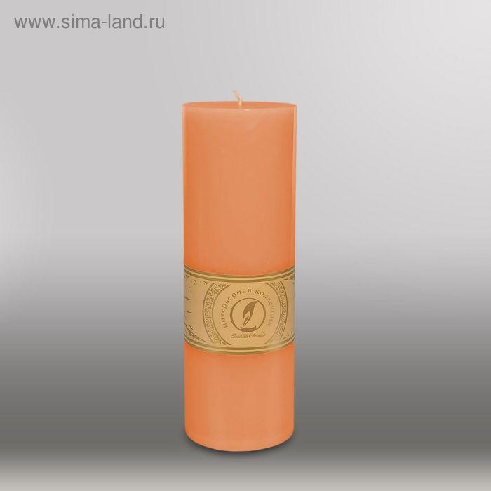 "Свеча цилиндр ""Классика"", 80x255мм,  терракотовый"