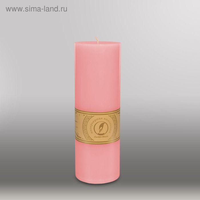 """Свеча цилиндр """"Классика"""", 80x255мм,  розовый"""