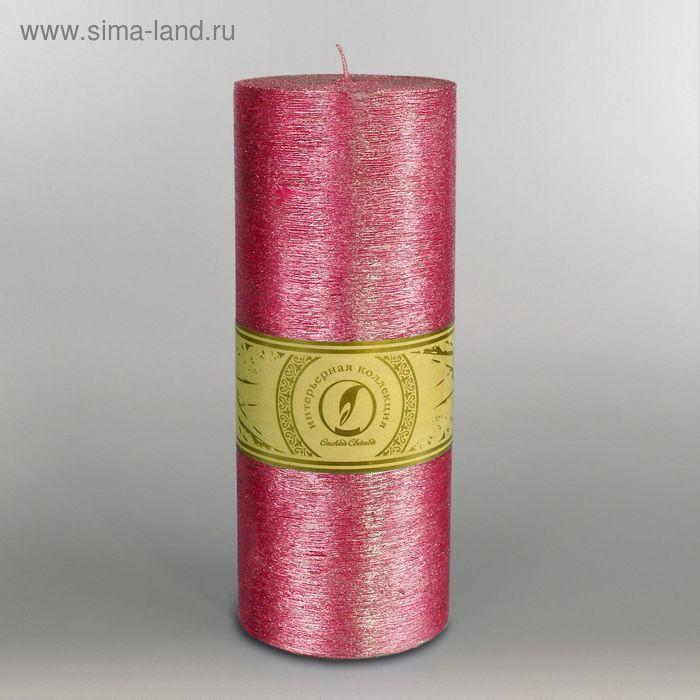 """Свеча цилиндр """"Металлик"""", 100x205мм,  рубин"""