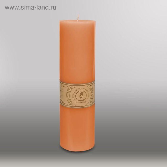 "Свеча цилиндр ""Классика"", 80x305мм,  терракотовый"