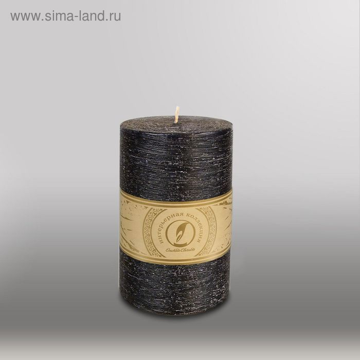 """Свеча цилиндр """"Рельеф"""", 100x150мм,  черный"""