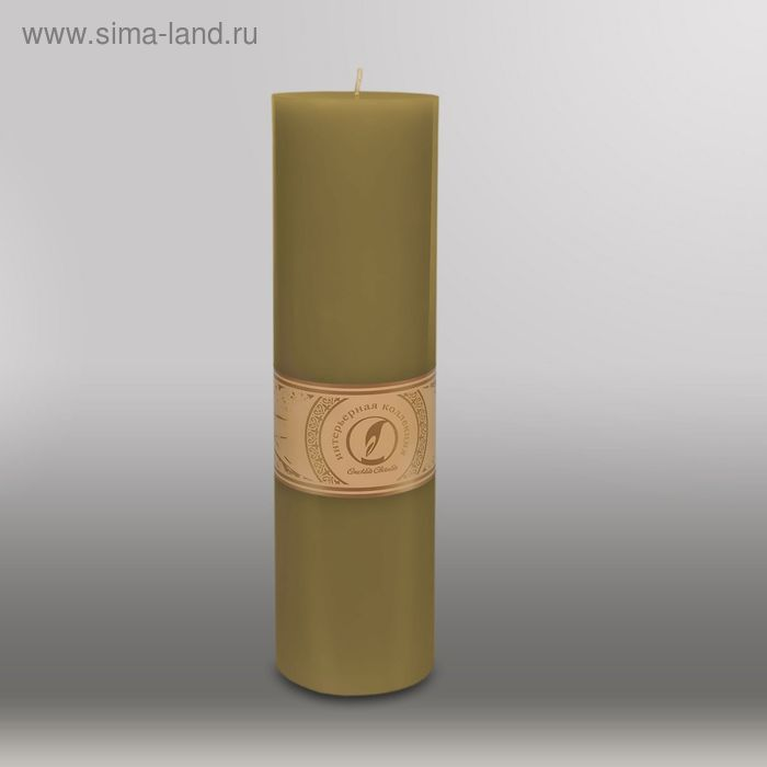 """Свеча цилиндр """"Классика"""", 80x305мм,  оливковый"""