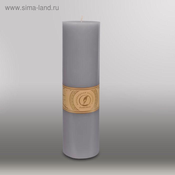 """Свеча цилиндр """"Классика"""", 80x305мм,  дымчато-голубой"""