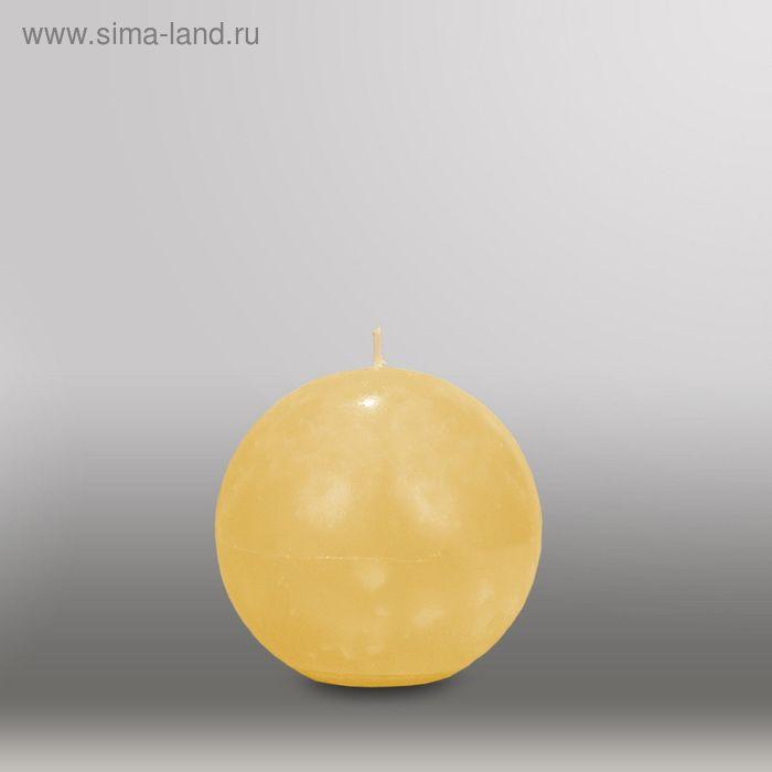 """Свеча шар """"Мрамор"""", d=100мм,  желтый"""