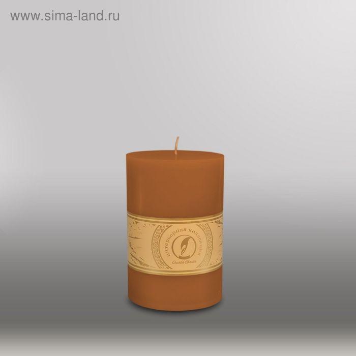"""Свеча цилиндр """"Классика"""", 100x150мм,  коричневый"""