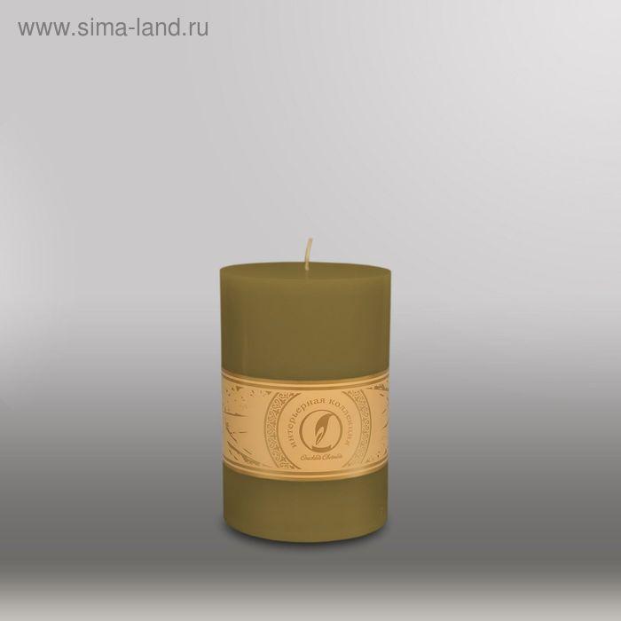 """Свеча цилиндр """"Классика"""", 100x150мм,  оливковый"""