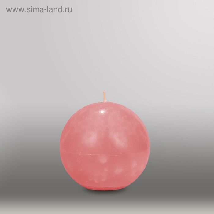 "Свеча шар ""Мрамор"", d=100мм,  розовый"
