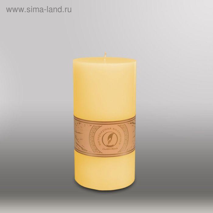 "Свеча цилиндр ""Классика"", 100x205мм,  желтый"