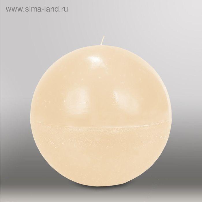 "Свеча шар ""Мрамор"", d=200мм,  кремовый"