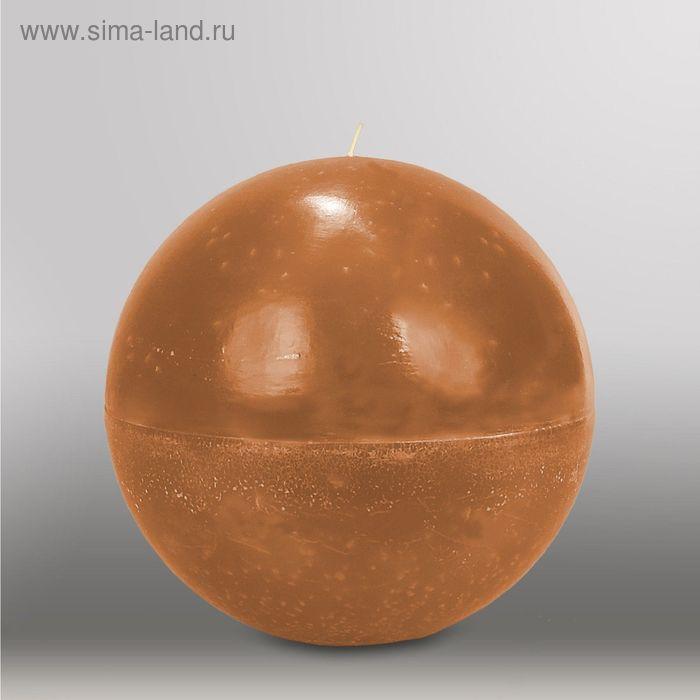 "Свеча шар ""Мрамор"", d=200мм,  коричневый"