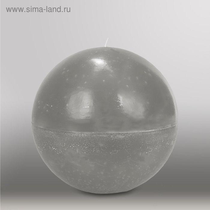 "Свеча шар ""Мрамор"", d=200мм,  дымчато-голубой"