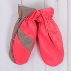 Варежки для девочки, размер 14, цвет красный