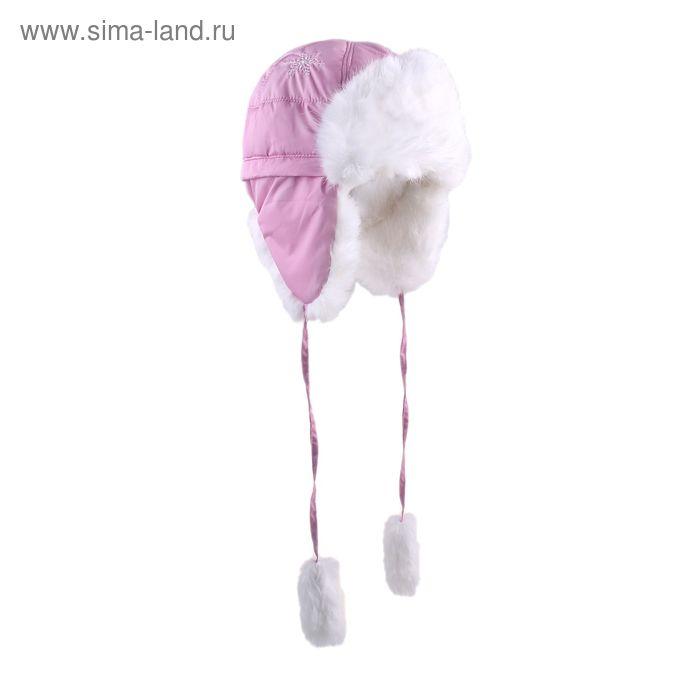 """Шапка для девочки """"Снежинка"""", размер 50, цвет розовый (арт. 81/2-00-13_Д)"""
