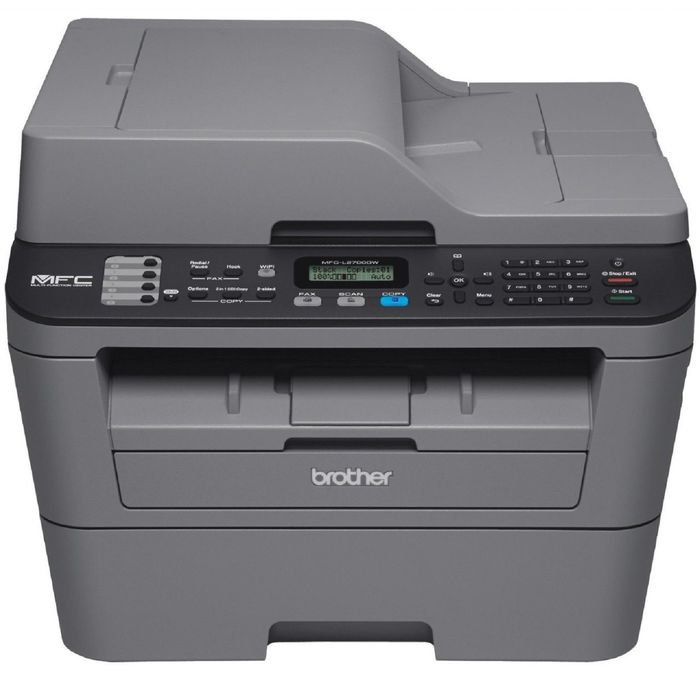МФУ, лазерная черно-белая печать Brother MFC-L2700DWR, А4, Duplex, LAN, WiFi