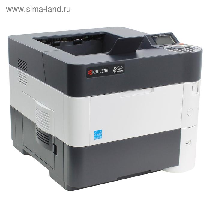 Принтер лазерный черно-белый Kyocera FS-4100DN, А4, Duplex