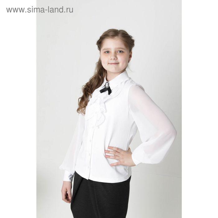 "Блузкa ""БЬЯНКА"", рост 146 см, цвет белый"