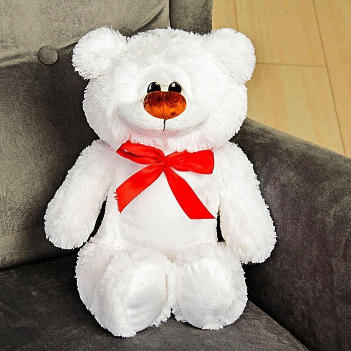 Мягкая игрушка «Медведь Брэд», цвет белый