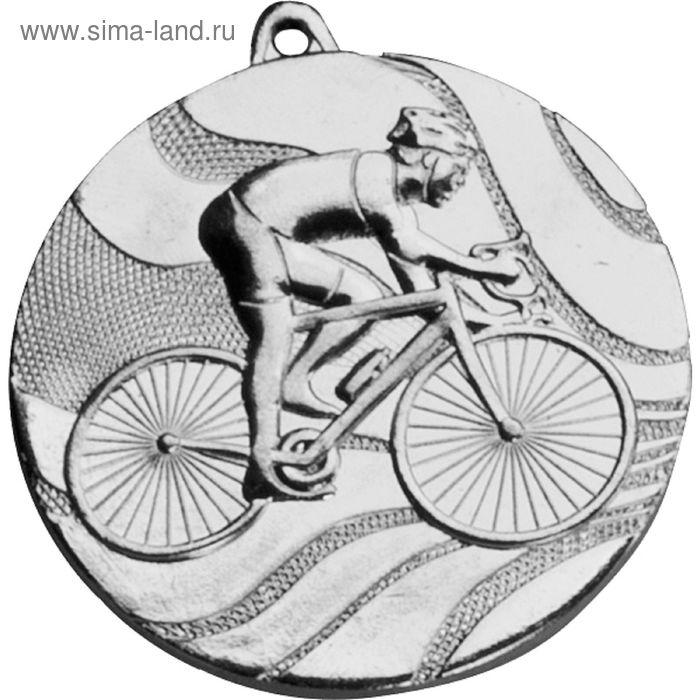 Медаль Велосипедист MMC5350/S, d=50 мм