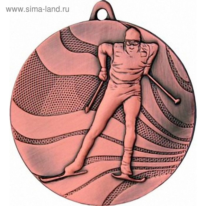 Медаль Лыжи MMC3350/B, d=50 мм