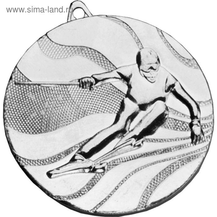 Медаль Лыжи горные MMC4950/S, d=50 мм