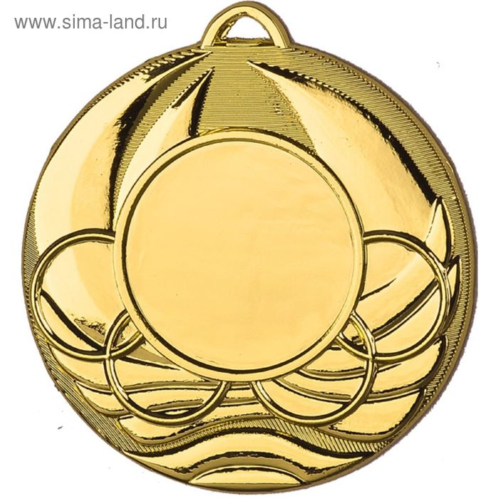 Медаль MD2250/G, d=50 мм, место под эмблему 25 мм