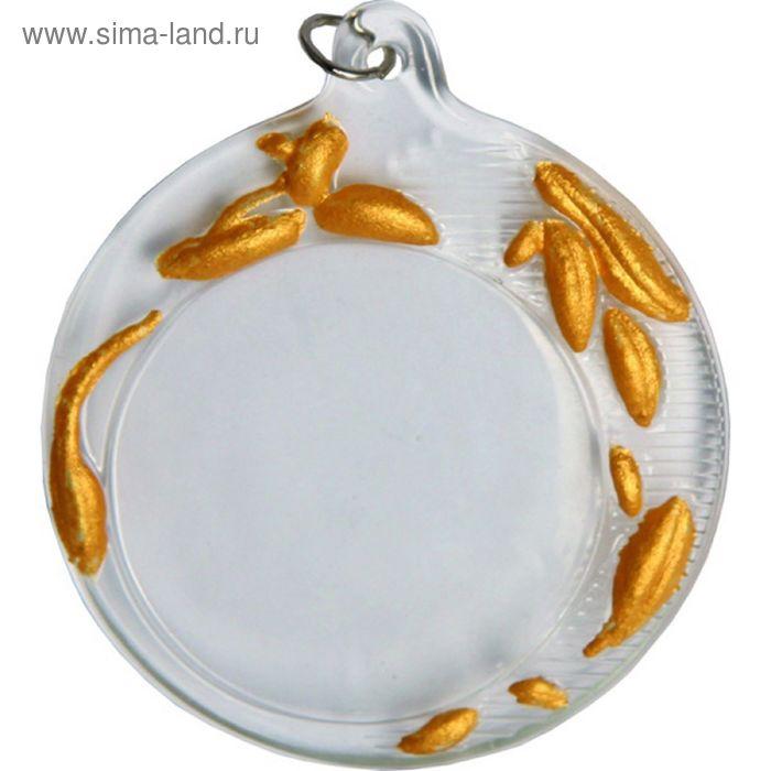 Медаль хрустальная GM2070/G, d=70 мм, место под эмблему 50 мм