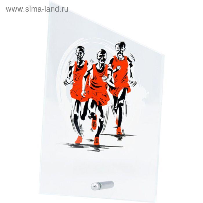 Награда стеклянная Бег марафон 12.5*20.5 см, SG1020/MA