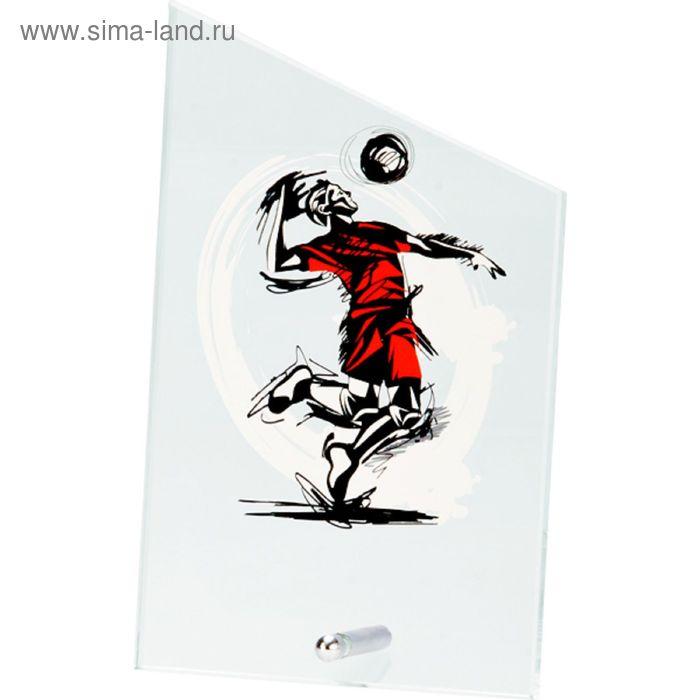 Награда стеклянная Волейбол 12.5*20.5 см, SG1020/VOL