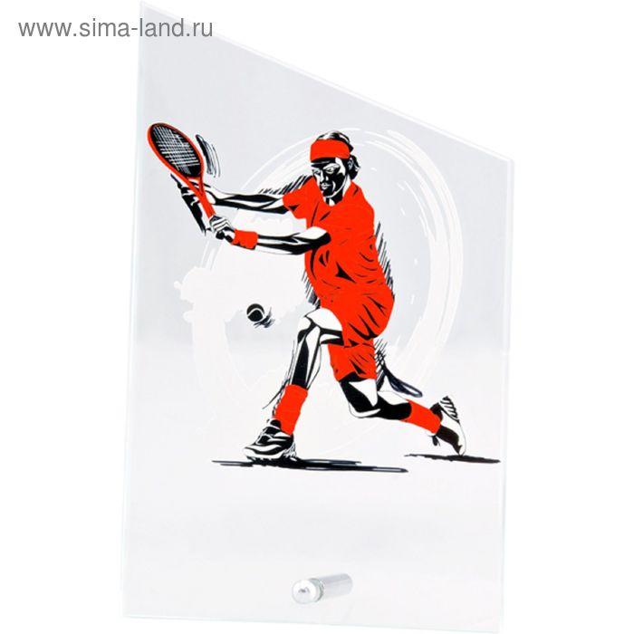 Награда стеклянная Теннис большой 12.5*20.5 см, SG1020/EART