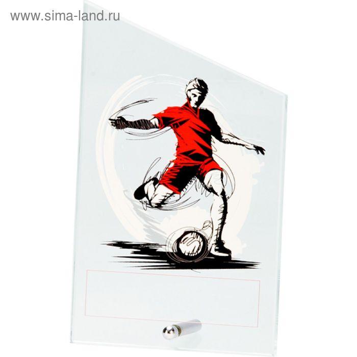 Награда стеклянная Футбол 12.5*20.5 см, SG1020/SOC