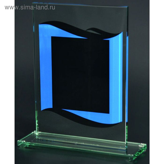 Награда стеклянная h=22 см, 80803/BL