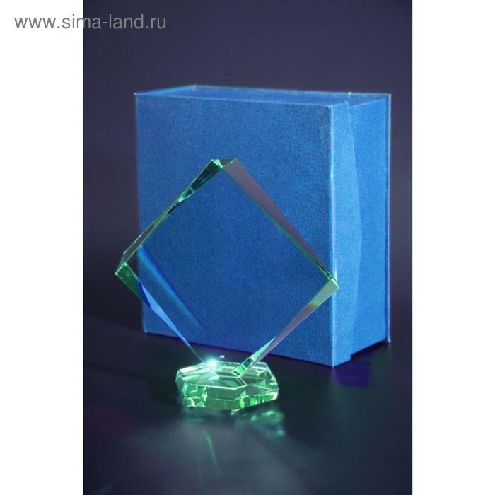 Награда стеклянная 230х220 мм, футляр в комплекте G022A