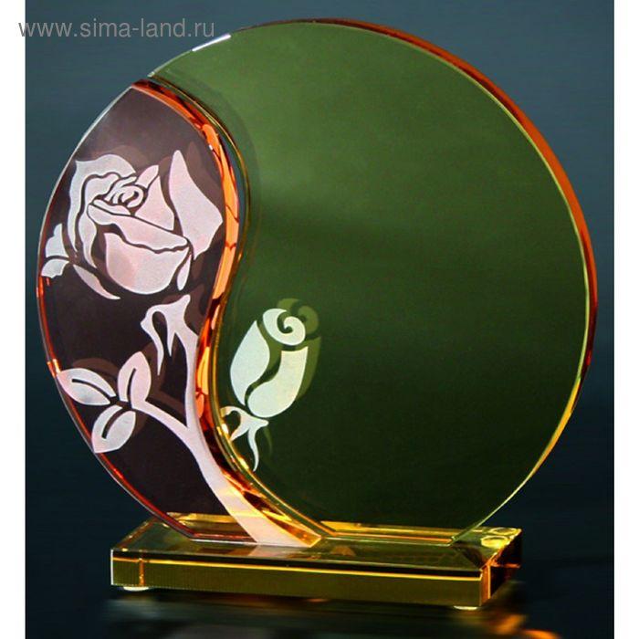 Награда стеклянная 175х175х7 мм футляр в комплекте GG002