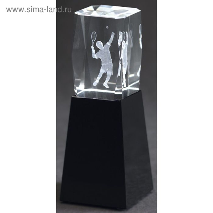 Награда хрустальная Теннис 50х50х180 мм, CAC50180/EART