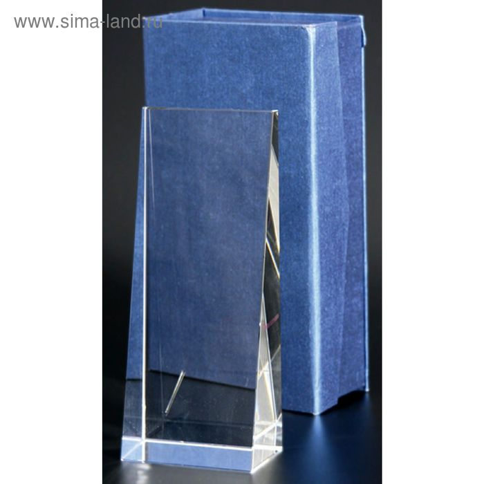 Награда стеклянная 200х80мм, футляр в комплекте С037