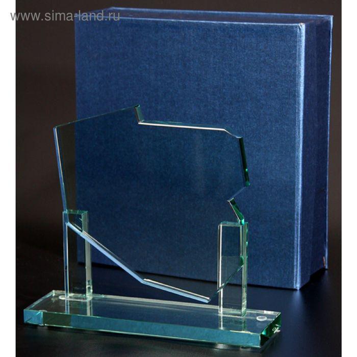 Награда стеклянная 210х180х12 мм, коробка в комплекте G030