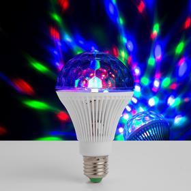 Лампа «Хрустальный шар», диаметр 8 см, 220 В, цоколь Е27