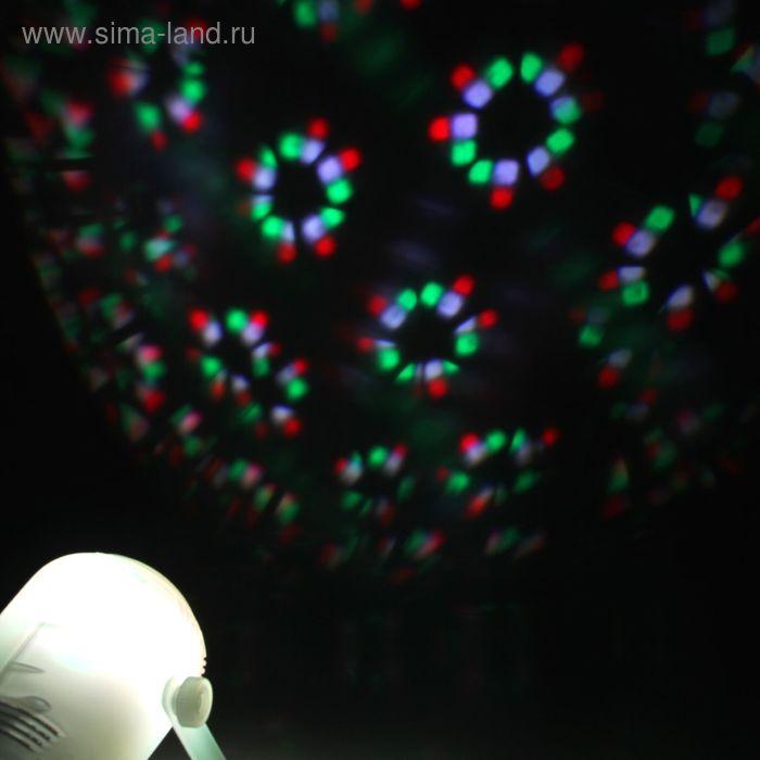Световой прибор, 24 картинки, корпус пластик, реагирует на музыку, 220V