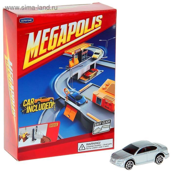 Набор MEGAPOLIS, мост с машиной, 1:60