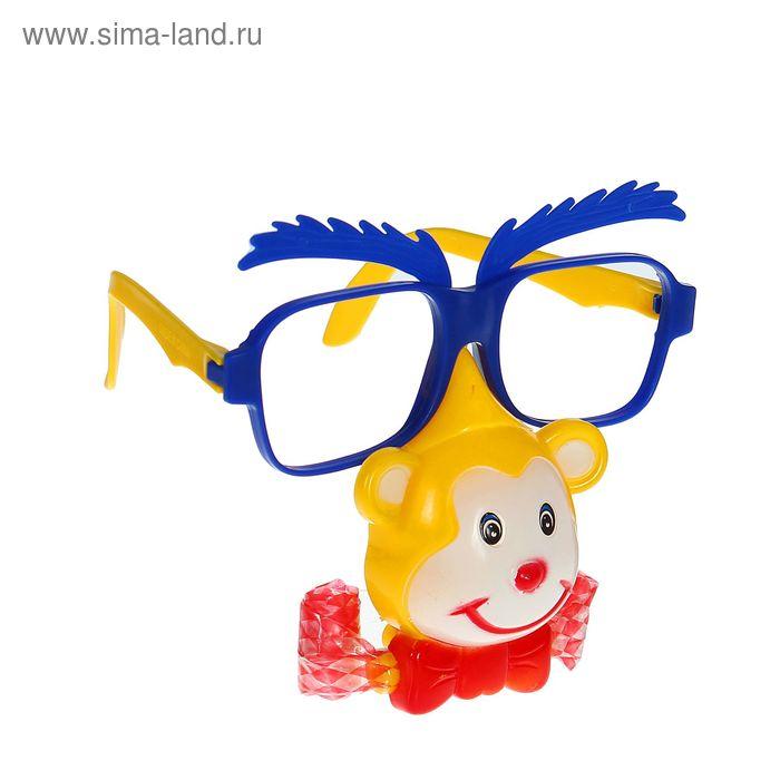 """Карнавальные очки """"Обезьянка"""" с носом и язычком, цвета МИКС"""