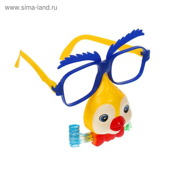"""Карнавальные очки """"Птичка"""" с носом и язычком, цвета МИКС"""