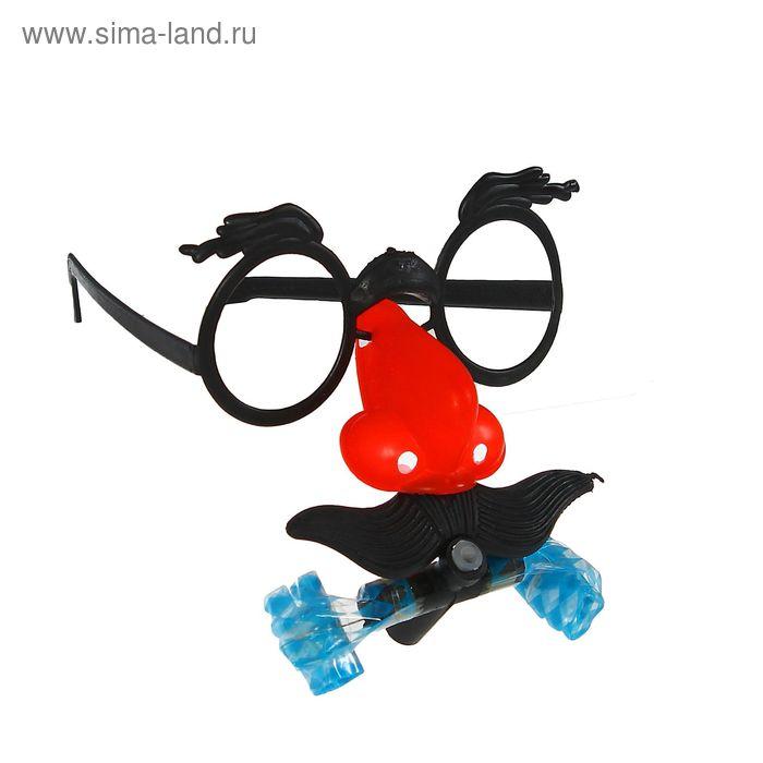 """Карнавальные очки """"Мужчина"""" с носом и язычком, цвета МИКС"""