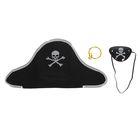 Набор пирата, 3 предмета: наглазник, серьга, шапка, р-р 52-54